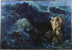 Escila y Caribdis por Ary Renan.